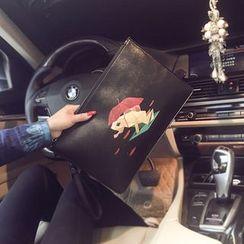 BagBuzz - 仿皮青蛙印花手包