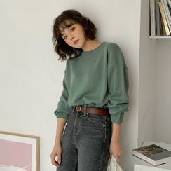 MERONGSHOP - Loose-Fit Knit Top