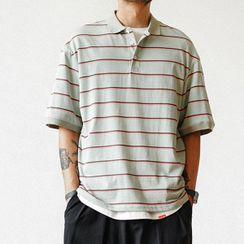 Rotigis - 短袖条纹马球衫
