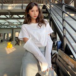 Akino - Detachable Sleeve T-Shirt
