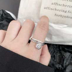 ERMIE - Smiley Face Sterling Silver Ring