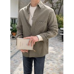 JOGUNSHOP - Pocket-Front Checked Shirt