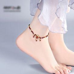 Gangnam - Retro Agate Bead Anklet