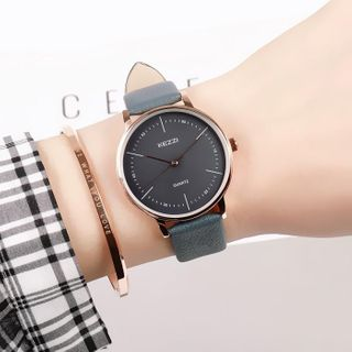 Epoca - Couple Matching Faux Leather Strap Watch Box Set