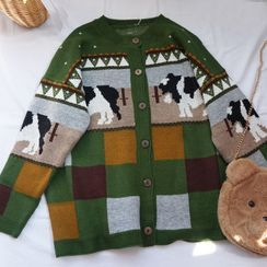 Candy House - Cow Print Cardigan