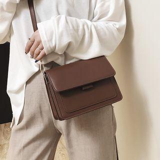 Kunado - 仿皮翻蓋單肩包