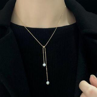 Miss JoJo(ミスジョジョ) - Freshwater Pearl Pendant Necklace