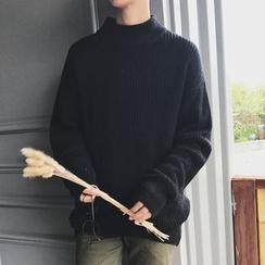 NAPO - 高领长袖针织毛衣