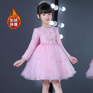 Doveark - Kids Embroidered A-line Party Dress