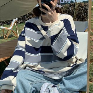 Fairy Essential - Long-Sleeve Striped Sweatshirt