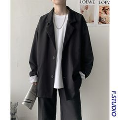 CooLook - 纯色单排扣西装外套