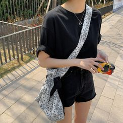 MERONGSHOP - Loose-Fit Cotton T-Shirt in 10 Colors
