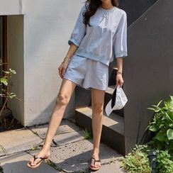PIPPIN - Set: Elbow-Sleeve Top + Sweat Shorts