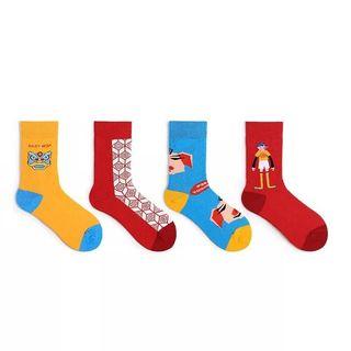 Castellane(カステラーヌ) - Couple Matching Chinese New Year Cartoon Socks