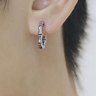 腾翼 - 不锈钢竹子圈环耳环
