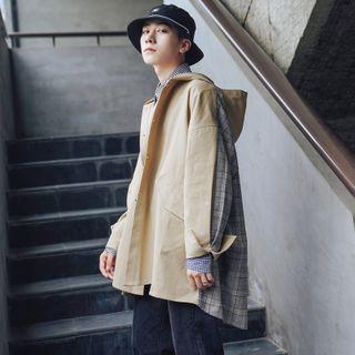 DuckleBeam - Hooded Splice Plaid Jacket