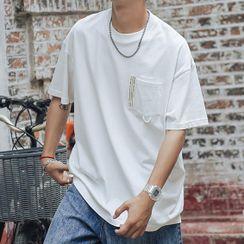 VEAZ - Short-Sleeve Applique Front Pocket T-Shirt