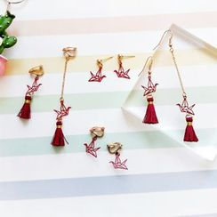 HayHill - Origami Crane Drop Earring