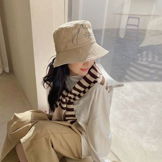LANWO - Cat Print Bucket Hat