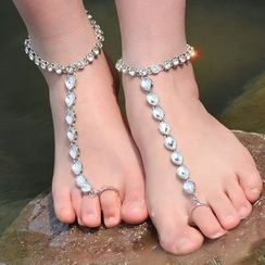 Seirios - Jeweled Toe Ring Anklet