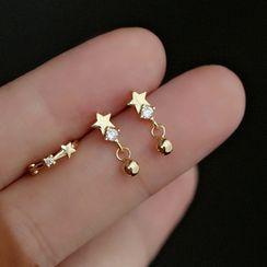 Zatanna - 星星水钻纯银耳坠