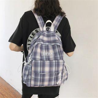 Crimson Tone - Plaid Lightweight Backpack