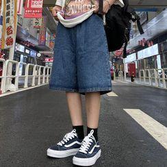 Shineon Studio - 直筒牛仔短裤