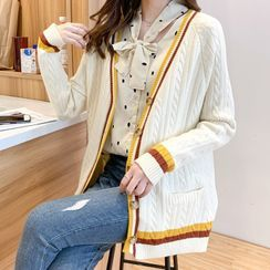 Queen Bee - Cable Knit Cardigan
