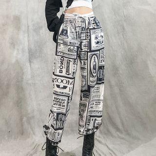 Krakin - All Over Print Harem Pants