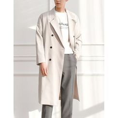 STYLEMAN - Double-Breasted Long Boxy Coat