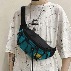 SUNMAN - Paneled Drawcord Sling Bag