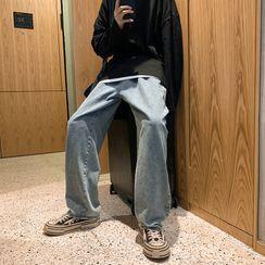 8th Sense - High-Waist Loose Fit Straight Cut Jeans