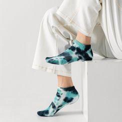 Cloud Femme - 扎染印花船袜