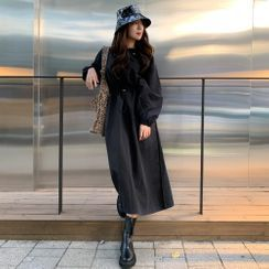 PPGIRL(PPガール) - Hooded Drawstring-Waist Parka