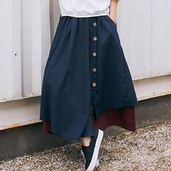 Romantica - Buttoned Maxi Skirt