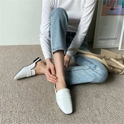 MONOBARBI - Square-Toe Backless Loafers