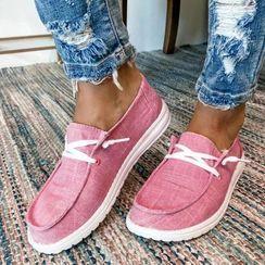 Avanti - Lace-Up Canvas Shoes