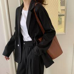 Yako - 寬鬆口袋長袖西裝外套