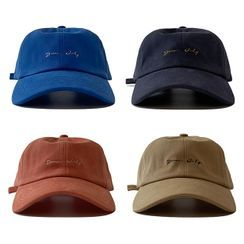 Heloi(ヘロイ) - Letter Embroidered Baseball Cap