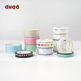 DUGA - 印花美纹纸胶带 (多款设计)