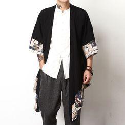 Aozora - 印花中袖日式外套