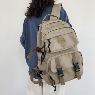EAVALURE - Buckle Strap Nylon Backpack