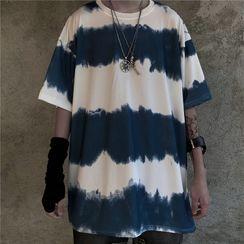 Banash - Elbow-Sleeve Paneled T-Shirt