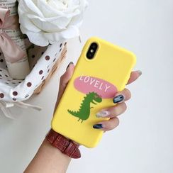 Pixel Dream - Dinosaur Print Mobile Case - iPhone XS / XS Max/ XR / X / 8 / 8 Plus / 7 / 7 Plus / 6S / 6S Plus