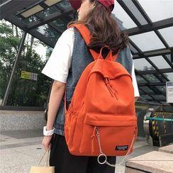 Beamie - Chain Detail Nylon Backpack