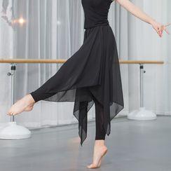 Winkplay - Legging Insert Sheer Midi Skirt