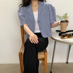 FROMBEGINNING(フロムビギニング) - Puff-Sleeve Linen Blazer