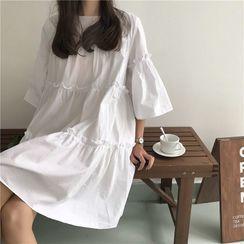 Sienne - Elbow-Sleeve Shift Dress