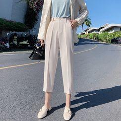 Luminato - Cropped Straight Leg Dress Pants