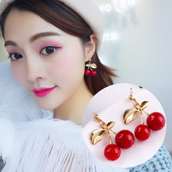 Ignar - Cherry Accent Drop Earrings